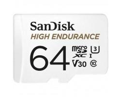 Карта пам'яті SANDISK 64GB microSDXC class 10 UHS-I U3 V30 High Endurance (SDSQQNR-064G-GN6IA)