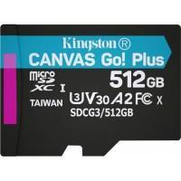 Карта пам'яті Kingston 512GB microSDXC class 10 UHS-I/U3 Canvas Go Plus (SDCG3/512GBSP)