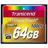 Карта пам'яті Transcend 64Gb Compact Flash 1000x (TS64GCF1000)