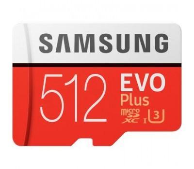 Карта пам'яті Samsung 512GB microSD class 10 UHS-I U3 Evo Plus V2 (MB-MC512HA/RU)