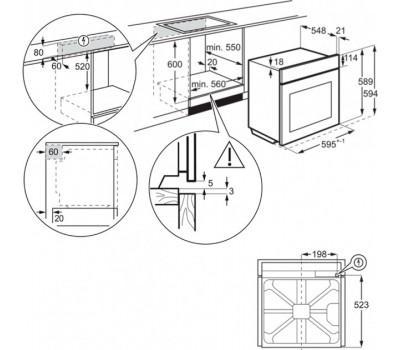 Духова шафа Electrolux OEF3H70TX
