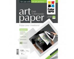 Папір ColorWay A4 Termotransfers/Dark (PTD120005A4)