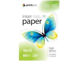 Папiр PrintPro глянсовий 230г/м2 10x15см 500арк. (PGE2305004R)