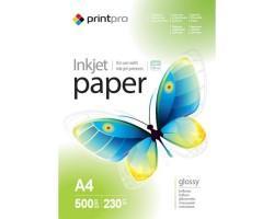 Папір А4 230г, PrintPro глянцевий, PG230-500