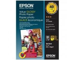 Папір EPSON 10x15mm Value Glossy Photo Paper 2х20 л. (C13S400044)