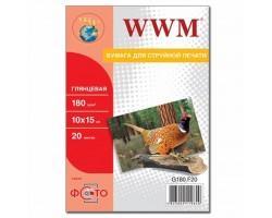 Папір WWM 10x15 (G180.F20)