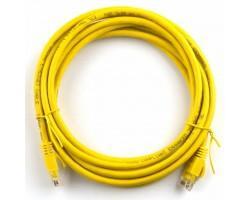 Патч-корд Ritar 3м, RJ-45, Cat.5e, CU, медь, желтый (03251)