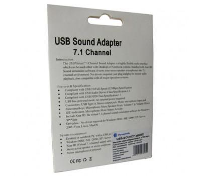 Звукова плата Dynamode USB 8(7.1) каналов 3D RTL (USB-SOUND7-WHITE)