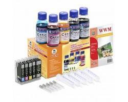 Комплект перезаправних картриджів WWM CANON IP4840/3600/4600/MP540/MG5140 (RC.CLI-521)