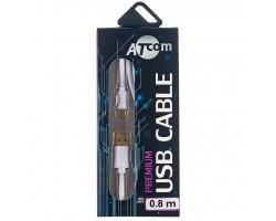 Дата кабель USB 2.0 AM to Micro 5P 1.8m white Atcom (16122)