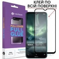 Скло захисне MakeFuture Nokia 6.2/7.2 Full Cover Full Glue (MGF-N62)