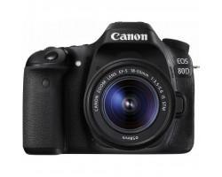 Цифровий фотоапарат Canon EOS 80D + 18-55 IS nano USM (1263C038)