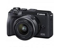 Цифровий фотоапарат Canon EOS M6 Mark II + 15-45 IS STM + EVF Kit Black (3611C053)