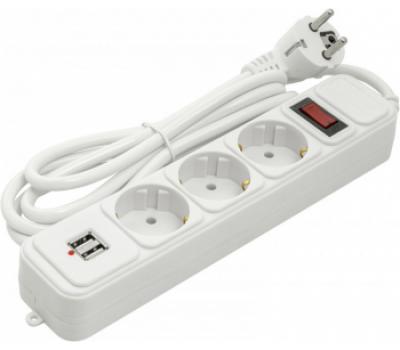 Мережевий фільтр PowerPlant 1.8 м 3 розетки 2 x USB JY-1054U / 1.8 (PPSA10M18S3U)