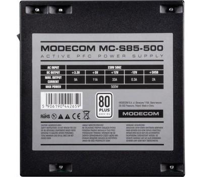 Блок живлення Modecom 500W (ZAS-MC85-CL-500-ATX-APFC)