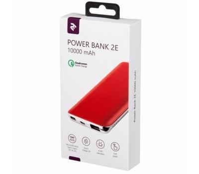 Батарея універсальна 2E 10000мА/ч, DC 5V, out: QC3.0, MicroUSB, Type-C, Red (2E-PB1036AQC-RED)