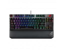 Клавіатура ASUS ROG Strix Scope TKL Deluxe USB Cherry MX Red RGB Red Ukr (90MP00N5-BKRA00)