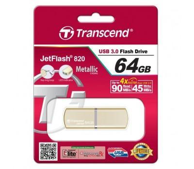 USB флеш накопичувач Transcend 64GB JetFlash 820 USB 3.0 (TS64GJF820G)