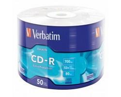 Диск CD Verbatim 700Mb 52x Wrap-box Extra (43787)