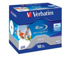 Диск BD Verbatim 25Gb 6x Jewel 10шт Printable (43713)