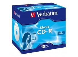 Диск CD Verbatim 700Mb 16x Jewel Case 10 Pack Music (43365)