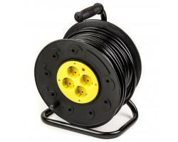 Мережевий подовжувач PowerPlant 50 м, 3x2.5мм2, 16А, (JY-2002/50) (PPRA16M50S4L)