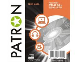 Диск CD PATRON 700Mb 52x SLIM box 1шт (CD-R-PN-700x52-SL)