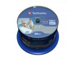 Диск BD Verbatim 25Gb 6x Cacke 50шт Wide Inkjet Printable SL Datalife (43812)