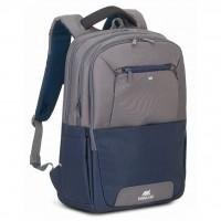 "Рюкзак для ноутбука RivaCase 17.3"" Steel blue/grey (7777 (Steel blue/grey))"