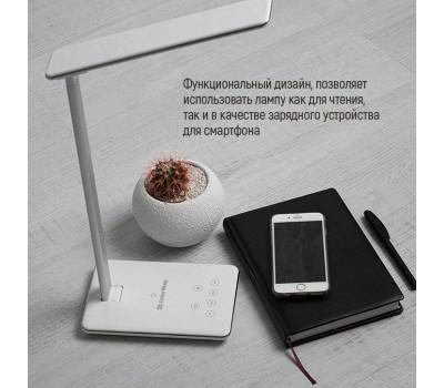 Настільна лампа ColorWay with wireless charger & 1*USB 5V/1.0A white (CW-DL01WC-W)