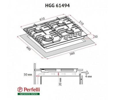 Варильна поверхня газова Perfelli HGG 61494 BL