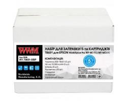 Заправочний набір WWM Epson WorkForce Pro WF-M5690/WF-M5190 (5 заправок) Black (IR1.T8651-5/BP)